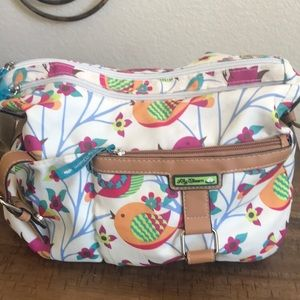 Lily Bloom canvas bird print shoulder bag